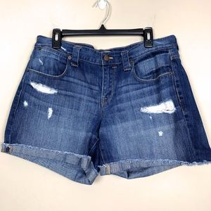 J. Crew Factory Distressed Denim Shorts 31